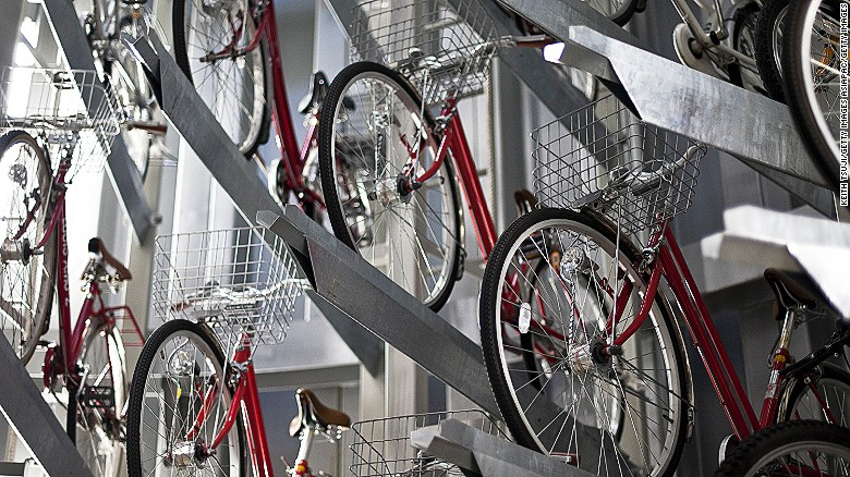 Eco Cycle bike vaults in Japan